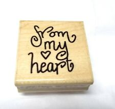 Valentines From My Heart Rubber stamp JRL Design Wood Mounted Card making words