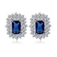 S22 Made With Swarovski Crystals The Raanana Blue Dainty Earrings $98