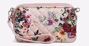 Vera Bradley RFID All in One Crossbody - Hope Blooms Pink