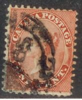 CANADA #14  USED   DATED   1865