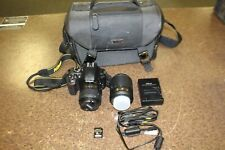 Nikon D D3300 24.2MP Digital SLR Camera w/ 18-55 & 55-200 lens, bag, + sd card