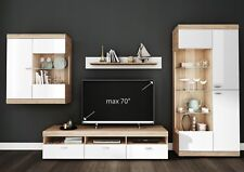 Living Room High Gloss Storage Furniture Tall Unit Modern TV Unit Cabinet PETER