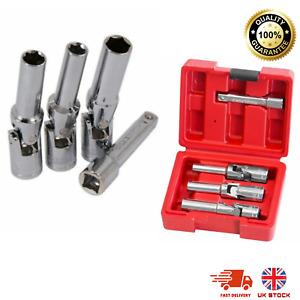 "4 Diesel Glow Heater Plug Flexible Deep Socket Set 3/8"" Drive 8mm 10mm 12mm NEW"