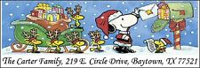 ~SNOOPY & WOODSTOCKS CHRISTMAS~  Return Address Labels