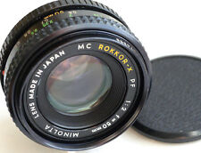 MINOLTA MC ROKKOR-X PF 50mm f2  for mirrorless cameras  JAPAN  GREAT