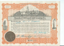 Electra Texas: Standard Oil Land & Leasing stock certificate 1922 three gushers