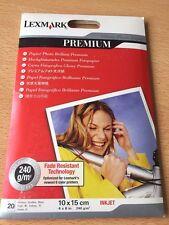 Lexmark 21G0710 Fotopapier 240g/m² 10x15 Hochglänzend, 20 Blatt