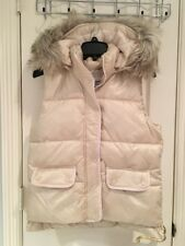 NWT Abercrombie And Fitch Women Cream Hooded Puffer Vest Size M $98 Cute!