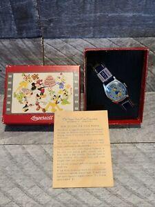Original 1948 Ingersoll/US Time Donald Duck Watch Works& Brithday Series Box