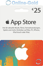 iTunes 25 Euro Prepaid Gutschein Guthaben Key €25 EUR Apple store Gift Code - DE