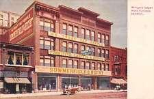 Detroit Michigan Summerfield Furniture Exterior Antique Postcard K32179