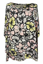 Boat Neck 3/4 Sleeve Casual Floral Tops & Shirts for Women