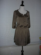 Pretty Old Navy Blouson Dress, Metallic Bronze, Work Career, Fitted Waist, Sz SP