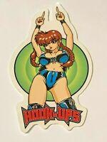 Hook Ups HOOK-UPS Vintage Skateboard Sticker, Original, Genuine Series #11298219