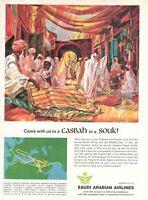 1977 Original Advertising' Advertising Saudi Arabian Airlines Company Saudia