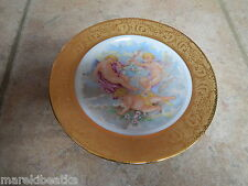 BEAUTIFUL  LIMOGES FRANCE  ANGELS & HEAVY GILDING ,, ROMANCEE ,, PLATE