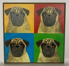 Pug Dog Pop Art Style  Multi-Color Wall Art Plaque Wall Hanging Decor