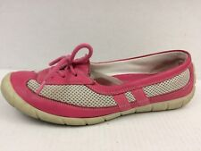 BUM Equipment B.U.M. Womens 10 Med Pink Beige Driving Loafer Flats Shoes Leather