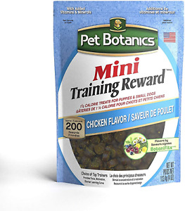 Pet Botanics Mini Training Reward Chicken Flavor Dog Treats 200-count 4 oz