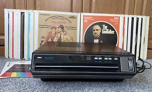 Vintage 1980's RCA SGT-100W SelectaVision VideoDisc CED Player Tested & Works