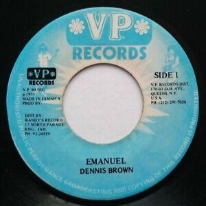 """1977 Roots Reggae Dub - EMANUEL ( Emmanuel ) Dennis Brown - VP 7"""" Soundclip"""