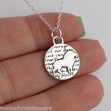 Lion Charm Necklace - 950 Sterling Silver - Handmade Inspirational Pendant NEW