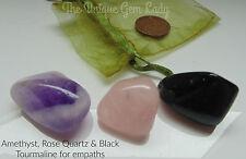 Empath Aid Blend Tumblestone Tumble Stone Gift Set ~ Gemstone Crystal Healing
