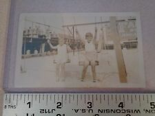 ORIGINAL PHOTO CAPE MAY NEW JERSEY SWINGING ON THE BEACH FREE US SHIPPING