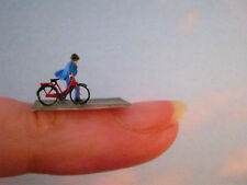 (ST01) Mann mit Fahrrad Figur Spur Scale Gauge Z (1:220) man with bike