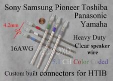 6c 4.2mm 16AWG speaker connector/plugs made for select sony/samsung/Panasonic HT