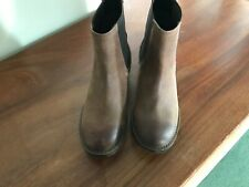 Next Ladies Boots Size 37 in Brown suede style fabric Used