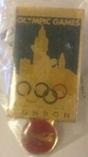 XIV OLYMPIC GAMES LONDON 1948 COCA COLA ORIGINAL PIN BADGE (1990 Series)