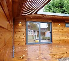 """L"" SHAPE LOG CABIN/GARDEN ROOM/GRANNY ANNEX- PRICE IS FROM £850 PER SQ.M"