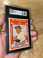 Willie Mays SGC 1.5 Topps #563 Baseball 1959 All Star Bazooka League INVEST NOW