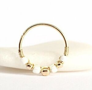 Handcrafted Conch Earring Hoop Upper Lobe Piercing Ring 20g 13-16mm Gold Silver