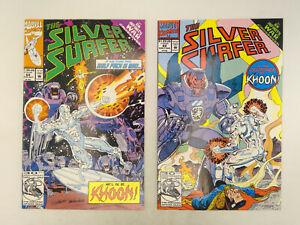 Silver Surfer Vol. 3 #68 & 69 Marvel Comics 1992 VF/NM Infinity War Crossover!