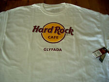 HRC Hard Rock Cafe Glyfada Greece Classic White Tee Shirt Size XXL neu new NWT