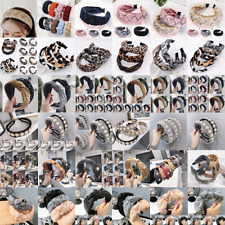 Fashion Women's Color Matching Headband Knotted Hair Band Hair Accessories