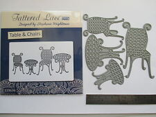 11 Photos Tattered Lace Table & Chairs Garden Furniture Dies + Free Die Cuts