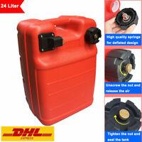24 Liter Benzintank Tank tragbar Kraftstofftank Treibstofftank Außenbordertank