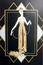 16Erte Matted Print 1991 FLORIDA PEARL EVENING DRESS and SHOES Art Deco Fashion