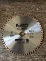 """DeWalt DW4712 7"""" Circular Saw Blade Masonry Concrete Block Brick"""