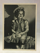 Shirley Temple 1937 Union Dresden Film Star Series 8 5X7 Cigarette Photo Card