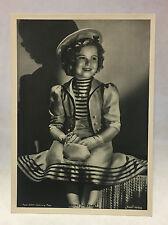 Shirley Temple 1937 Union Dresden Film Star Series 8 5X7 Cigarette Photo Card