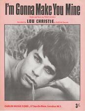 I'm Gonna Make You Mine - Lou Christie - 1969 Sheet Music