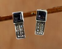 925 Sterling Silver Jewelry Iolite Gemstone Woman's Daily Wear Gift Earring