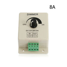 DC12V-24V 8A LED Light Dimmer Brightness & Ribbon Adjustable Bright Controller