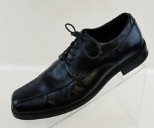 Calvin Klein Horatio Oxford Bike Toe Mens Black Leather Lace Up Shoes Size 11.5M