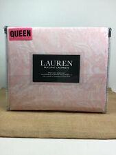 NEW Ralph Lauren QUEEN Sheet 4 pc Set XDP Fitted Pink & White Paisley