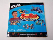 KNEX INSTRUCTION MANUAL ONLY #11541 Fun Set (Builds 12 Models) Instructions Book
